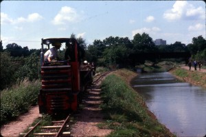 90. Railway. Ash embankment. Puddling. 1980 REDUCED