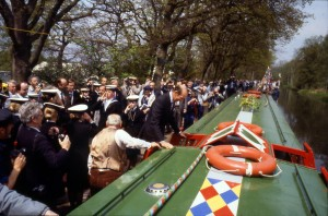 693. Pinkerton. Re-opening ceremony. Sea Scouts piping Duke of Kent aboard. Frimley. 1991